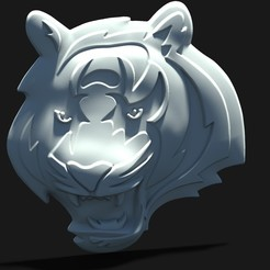 bengaaaal.372.jpg Download STL file bengal tiger 3d logo • 3D printer object, Mooos