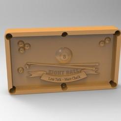 3D print model 8 ball pool, Mooos