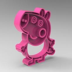 Download 3D printer designs peppa pig familia pack 10 models, Mooos