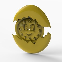cloccckkk.531.jpg Download STL file easter wall clock • Model to 3D print, Mooos