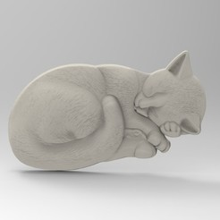 3D printer models sleeping cat, engmoos