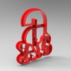 Descargar diseños 3D números cortadores de galletas, Mooos