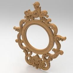 Diseños 3D marco de espejo, engmoos