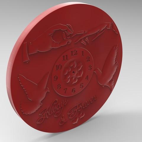 3D printer files valentine clock 2, Mooos