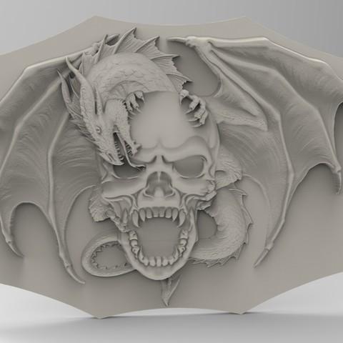 Descargar archivos STL dragón de cráneo, Mooos