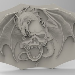 Modelos 3D para imprimir dragón de cráneo, engmoos