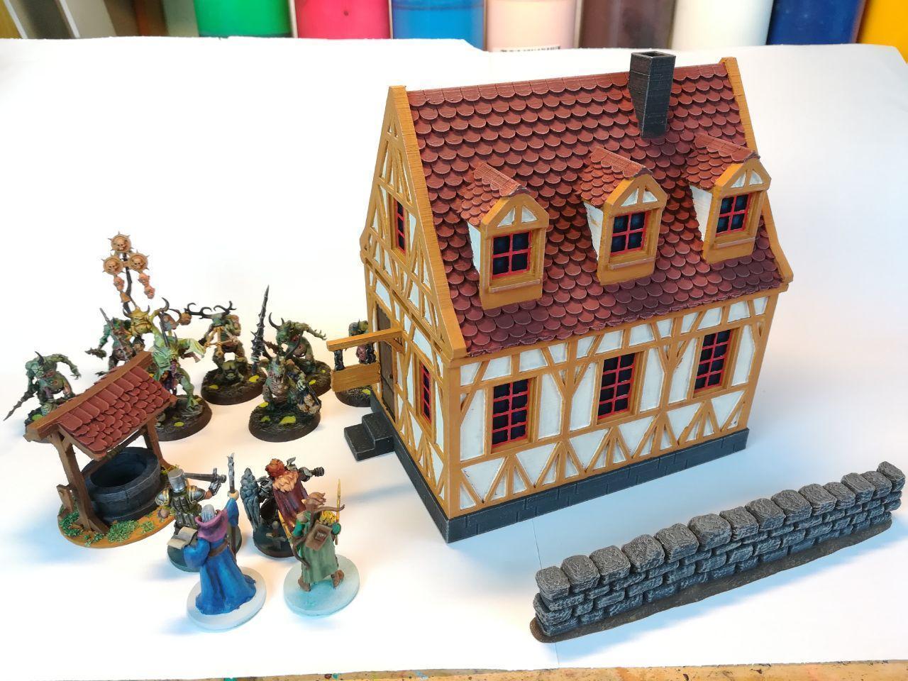 haus1.jpg Télécharger fichier STL maison à charpente médiévale - décoration - table/terrain de jeu • Modèle pour impression 3D, pyrokahd