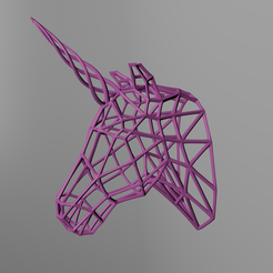 Download free 3D printing files Unicorn meshstyle Trophy, pyrokahd