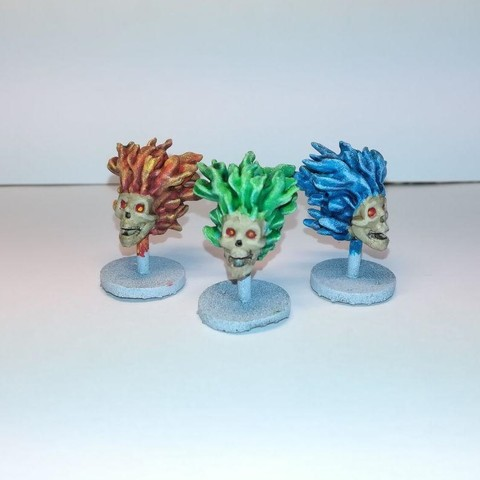 2 (2).jpg Download free STL file Flaming Skull - 28mm D&D miniature • 3D printing model, pyrokahd