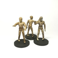 Download free 3D printing models Mummy - 28mm D&D miniature, pyrokahd