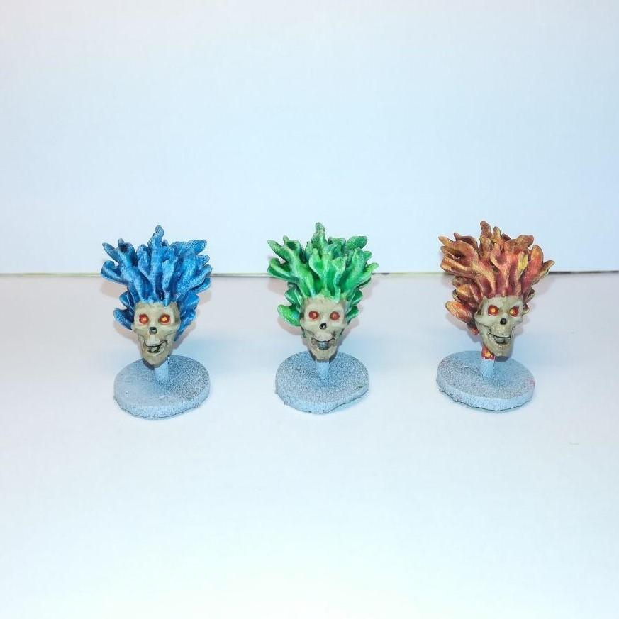 3 (2).jpg Download free STL file Flaming Skull - 28mm D&D miniature • 3D printing model, pyrokahd