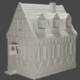 house4.png Download STL file medieval frame house - decoration - tabletop/wargaming terrain • 3D printable design, pyrokahd