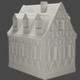 house3.png Download STL file medieval frame house - decoration - tabletop/wargaming terrain • 3D printable design, pyrokahd