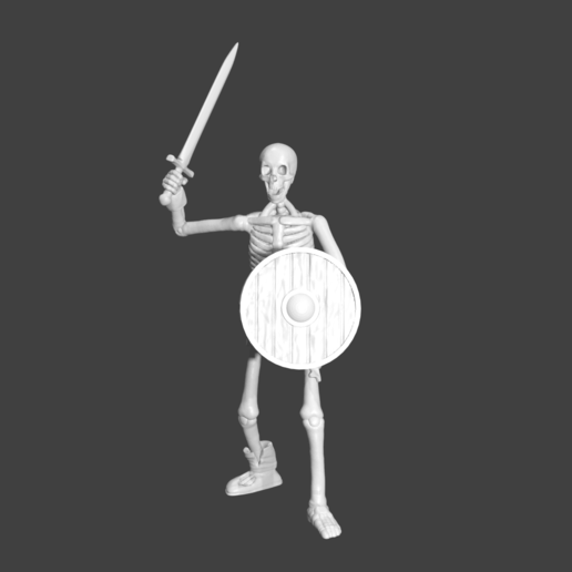 SwordRender.png Download STL file Sekeltons - 28mm D&D Miniatures  • 3D printing template, pyrokahd