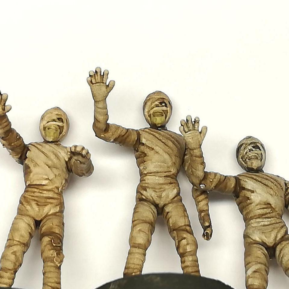 4 (2).jpg Download free STL file Mummy - 28mm D&D miniature • 3D printable object, pyrokahd
