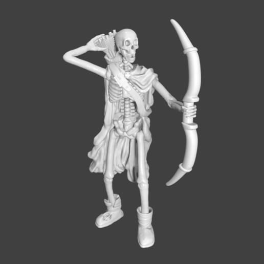 ArcherRender.png Download STL file Sekeltons - 28mm D&D Miniatures  • 3D printing template, pyrokahd
