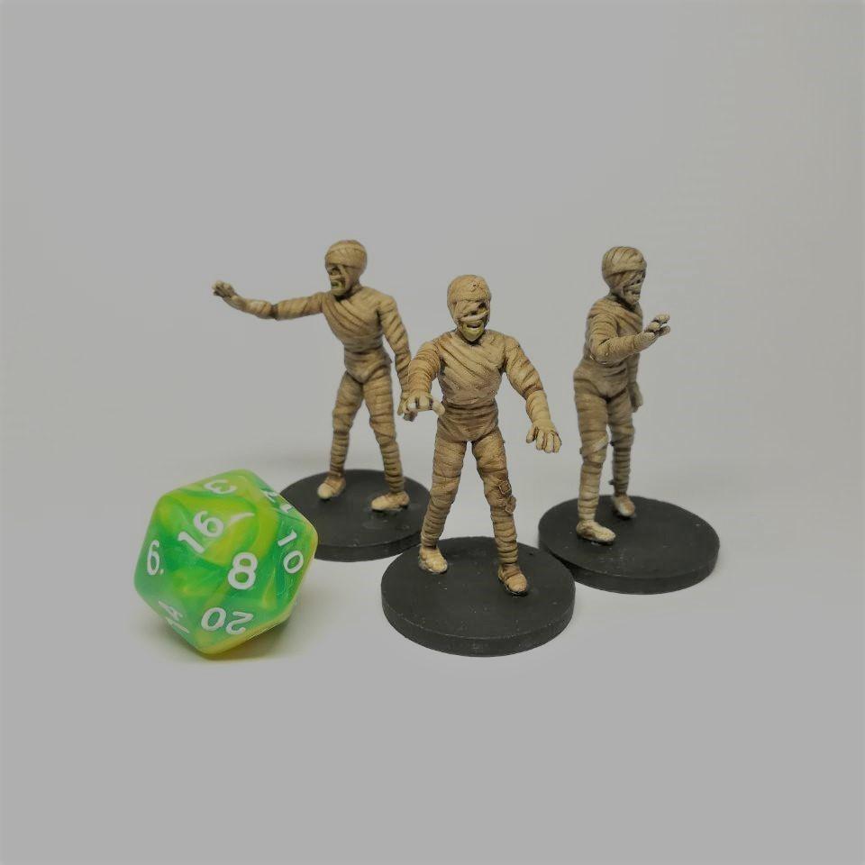 2 (2).jpg Download free STL file Mummy - 28mm D&D miniature • 3D printable object, pyrokahd