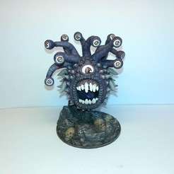 Download free 3D model Beholder - 28mm D&D miniature, pyrokahd
