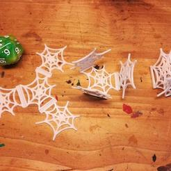 Download free STL foldable Spiderweb - 28mm decoration, pyrokahd