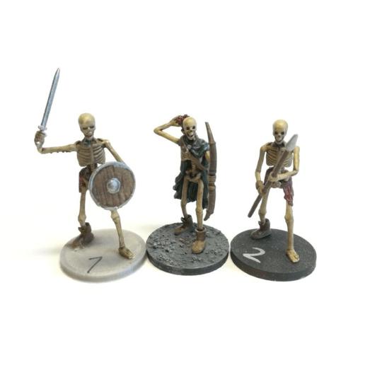 skelsVorne.png Download STL file Sekeltons - 28mm D&D Miniatures  • 3D printing template, pyrokahd