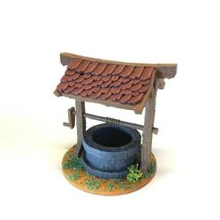 BrunnenPainted1.jpg Download free STL file Fantasy/medieval well - tabletop terrain • 3D printing object, pyrokahd