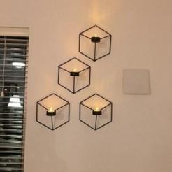 Télécharger fichier impression 3D Chandelier mural géométrique en 3D, Eternel06