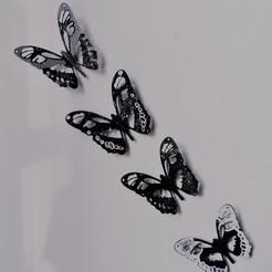 Download 3D printer files 3D decoration butterflies, Eternel06