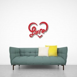 Download 3D printer model LOVE, Eternel06