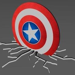 Download STL files Captain America Shield crack, Eternel06