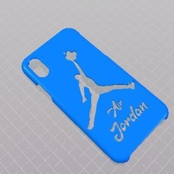 Télécharger fichier imprimante 3D gratuit iphone X Air Jordan Case, Eternel06