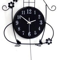 Télécharger plan imprimante 3D Horloge murale oiseaux, Eternel06