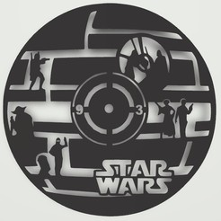 Télécharger modèle 3D Star wars Clock, Eternel06