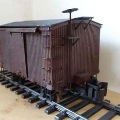 Box_car_2.jpg Télécharger fichier STL gratuit Boxcar américain d'époque 1/32 • Design pour imprimante 3D, raby