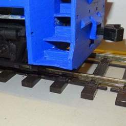 Rear.jpg Download free STL file Knuckle couplers for the 1/32 OpenRailway EMD SW1500 • 3D printer object, raby