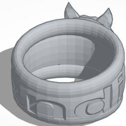 Capture.PNG Télécharger fichier STL bague loup • Design pour impression 3D, sandinero