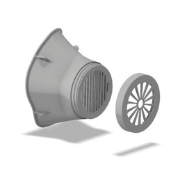 Impresiones 3D gratis Máscara de Corona Covid #3DVSCOVID19, metalguru