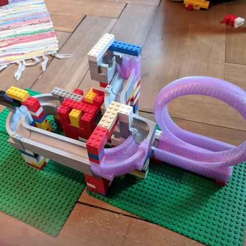 Free 3D printer designs Lego Marble Run, metalguru