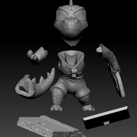 Annotation 2019-07-26 222728.jpg Download free STL file Renekton Chibi - League Of Legends • Model to 3D print, BODY3D
