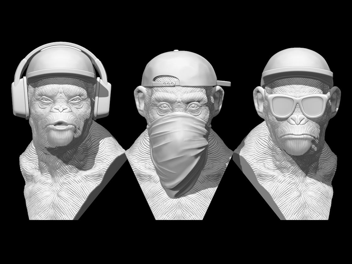 Z.png Télécharger fichier STL 3 Wise Monkeys • Modèle pour imprimante 3D, BODY3D