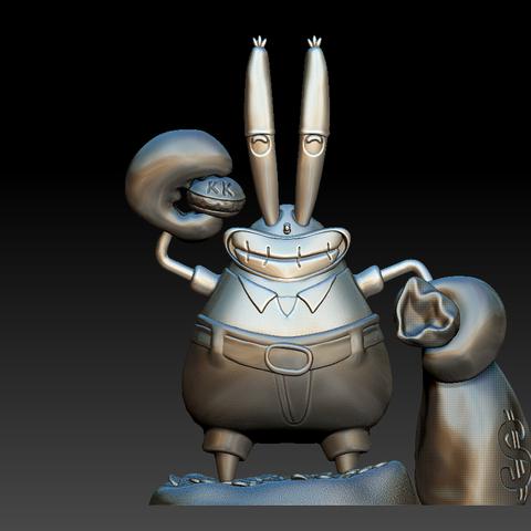 Model 1.PNG Download free STL file Mr. Krabs • 3D printable design, BODY3D