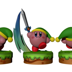 Render 1.png Download STL file Kirby Link FanArt • 3D printing design, BODY3D