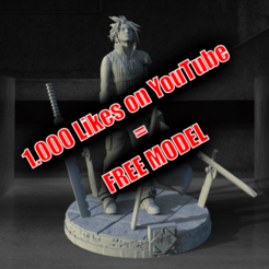 Download free 3D printing models Cloud Strife ( Free soon / Bientot Gratuit ), BODY3D