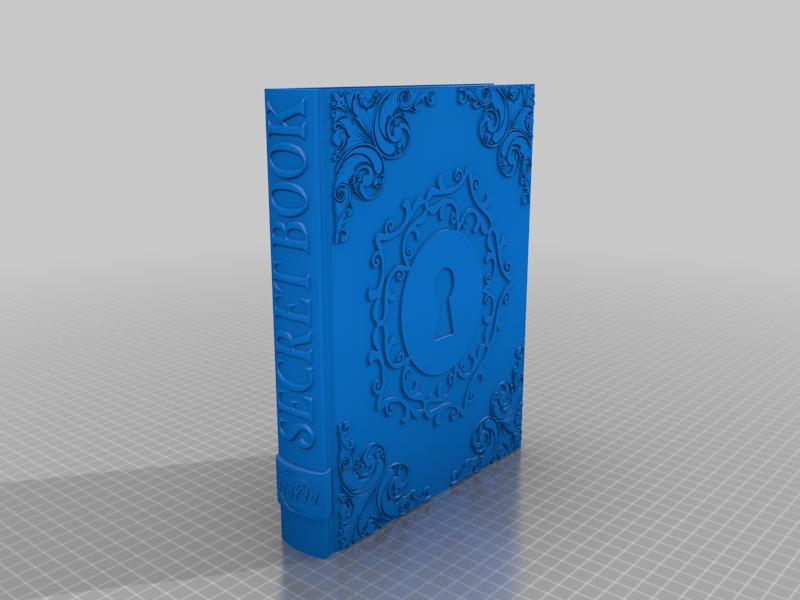 Secret_Book.png Télécharger fichier STL gratuit Livre secret • Plan pour impression 3D, BODY3D