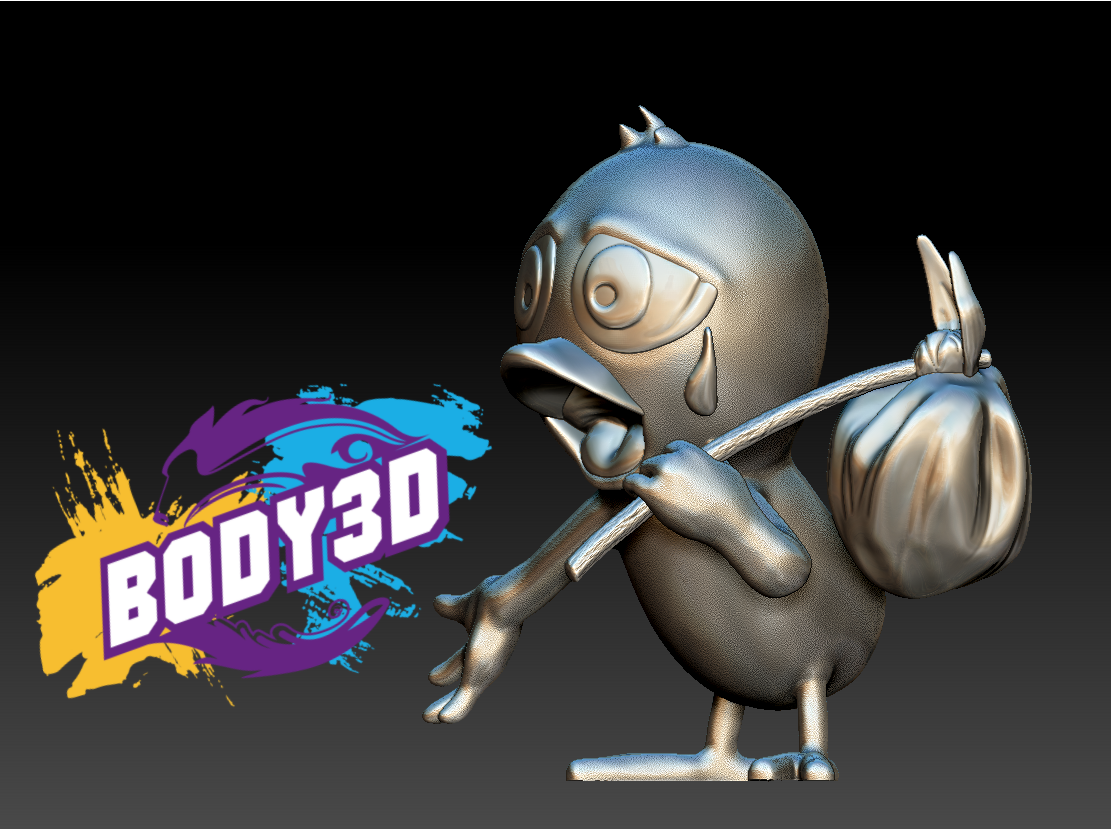 Model_6.PNG.png Télécharger fichier STL gratuit Calimero • Objet pour impression 3D, BODY3D