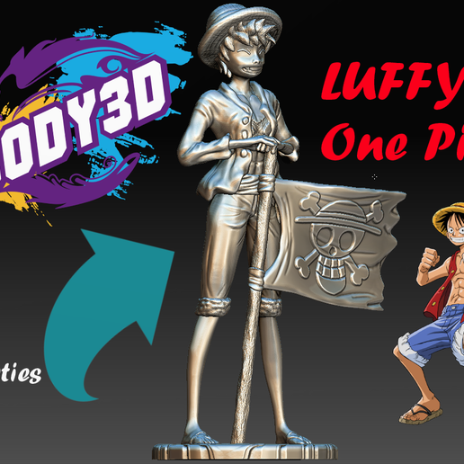 Luffy_Model.PNG Download free STL file Luffy Head - One Piece • 3D printing object, BODY3D