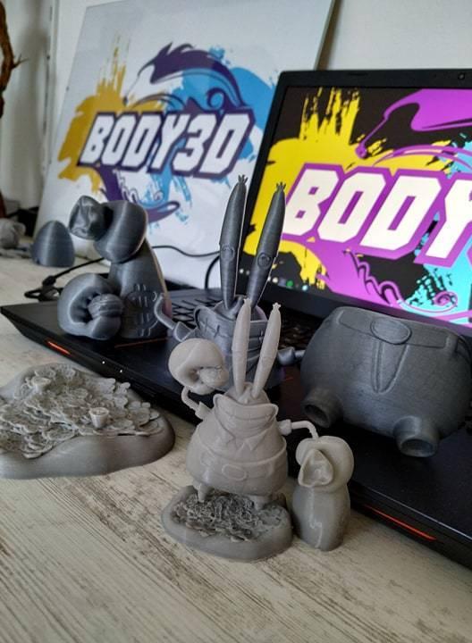 Print.jpg Download free STL file Mr. Krabs • 3D printable design, BODY3D