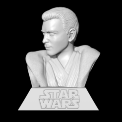 14.png Download STL file Obiwan Kenobi Bust • 3D printer design, BODY3D
