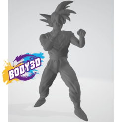 1.png Download free STL file Goku Fight • 3D printer object, BODY3D
