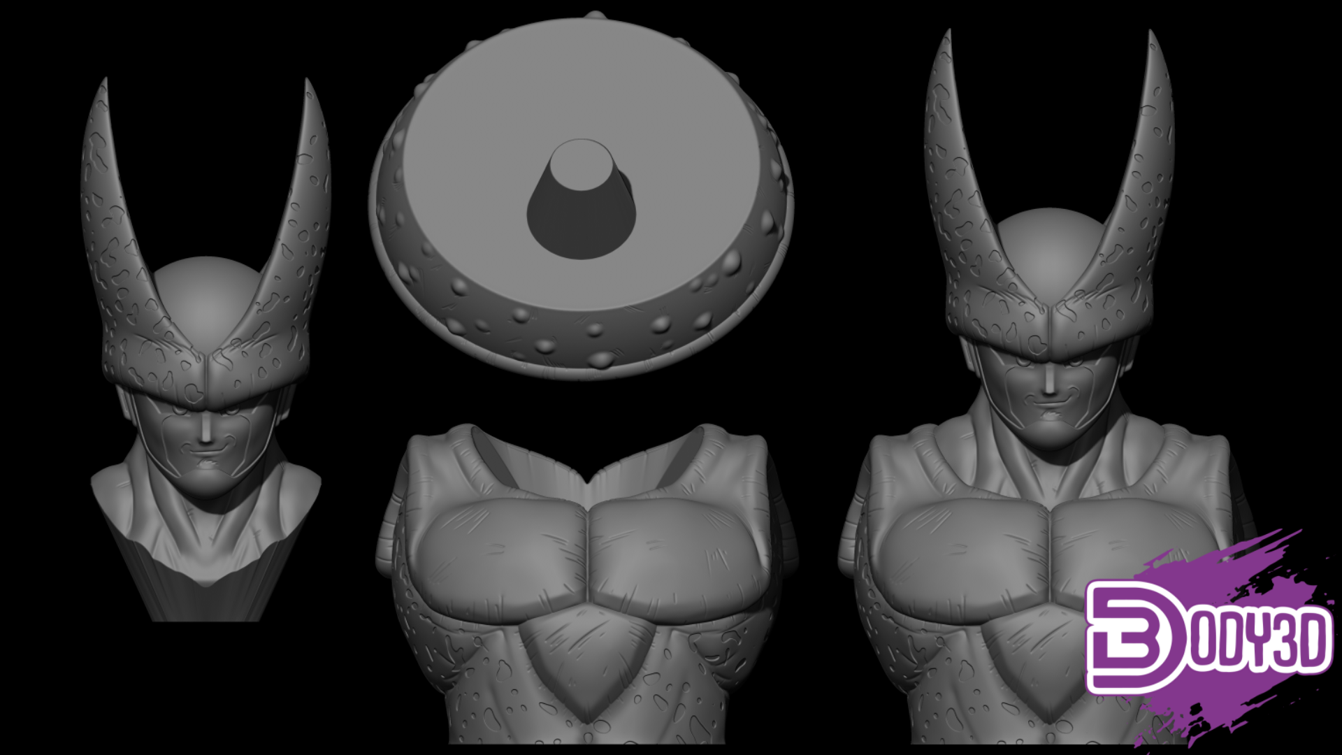 fgdhgfdhfhg.png Télécharger fichier STL Cell Bust 1/1 Scale - Dragon Ball • Plan imprimable en 3D, BODY3D