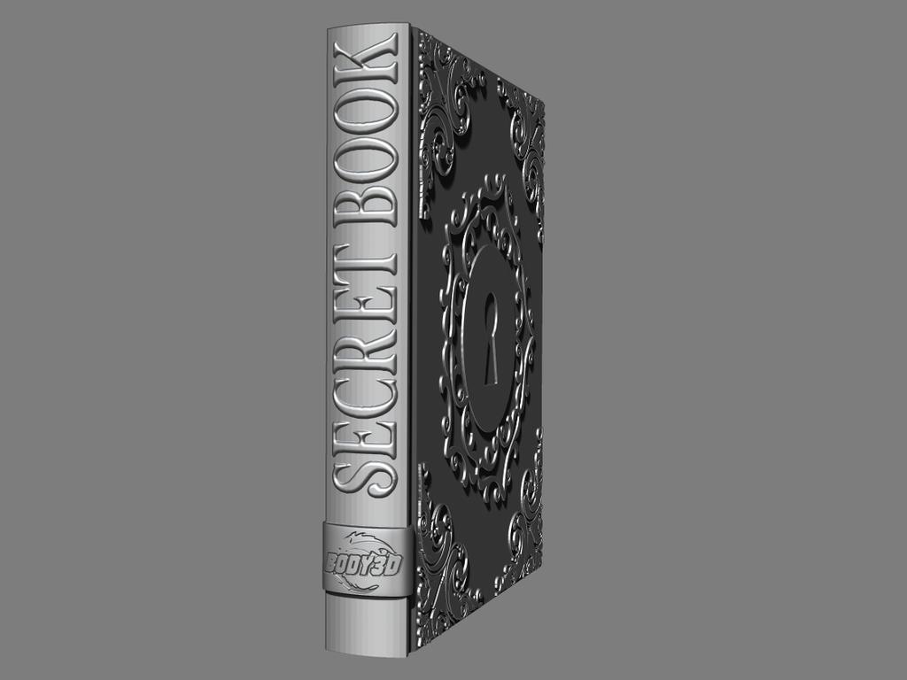 5.png Télécharger fichier STL gratuit Livre secret • Plan pour impression 3D, BODY3D